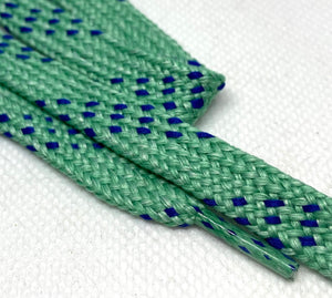 Premium Sport Frost Green w/Royal Accents Classic Shoelaces