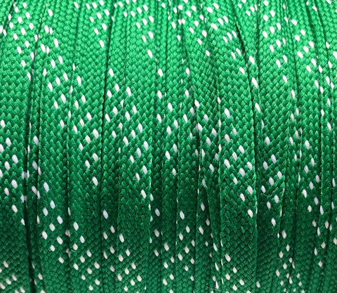 Green  and White Sport Team Shoelaces