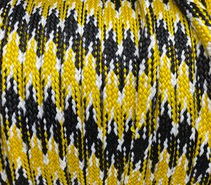 Gold, Black and White Sport Team Shoelaces