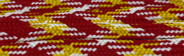 Gold, Red and White Sport Team Shoelaces