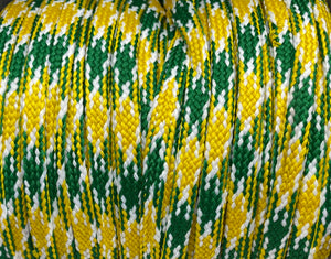 Gold, Green and White Sport Team Shoelaces