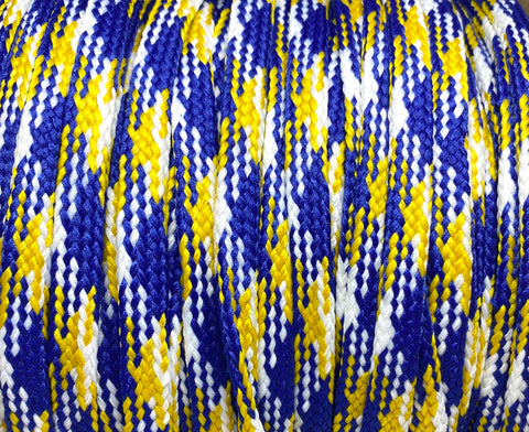 Big Fat Shoelaces - Blue, Yellow & White