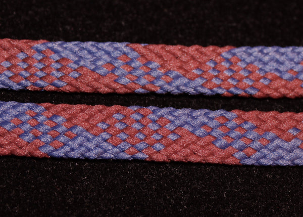 Maroon and Dark Blue Laces