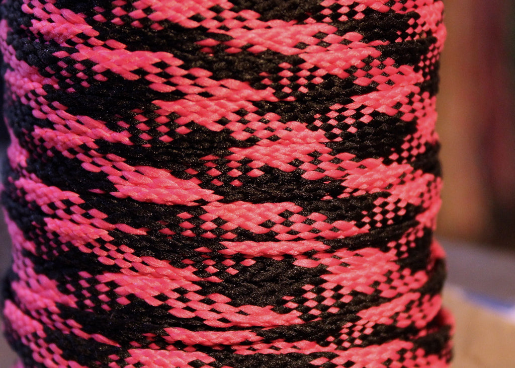 Pink and Black Plaid Shoelaces – The
