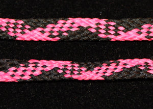 Pink and Black Plaid Shoelaces