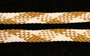 Tan and White Flat Shoelaces