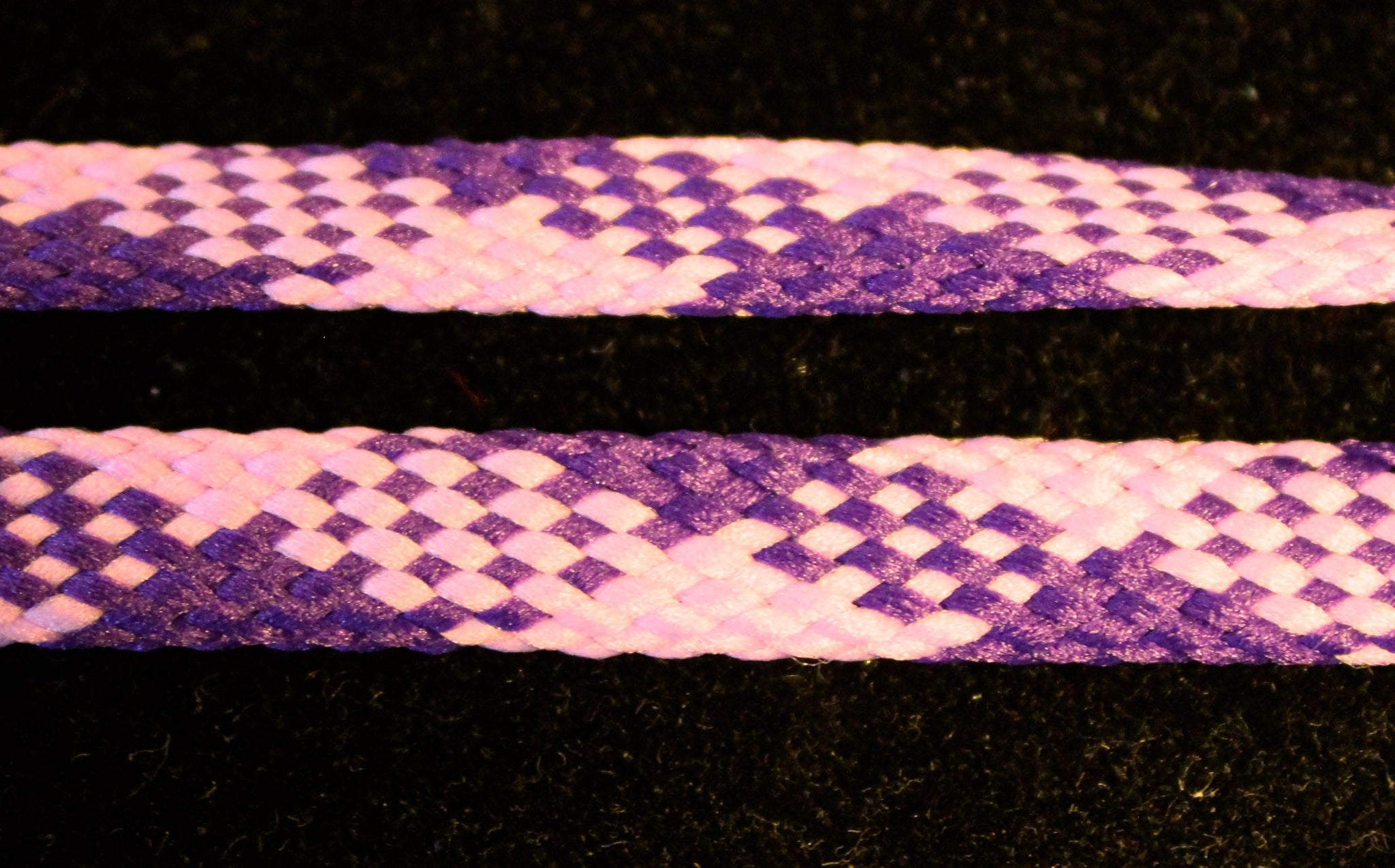 Pink and Purple Flat Shoelaces