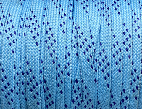 Premium Flat Light Blue w/Royal Accents Classic Shoelaces