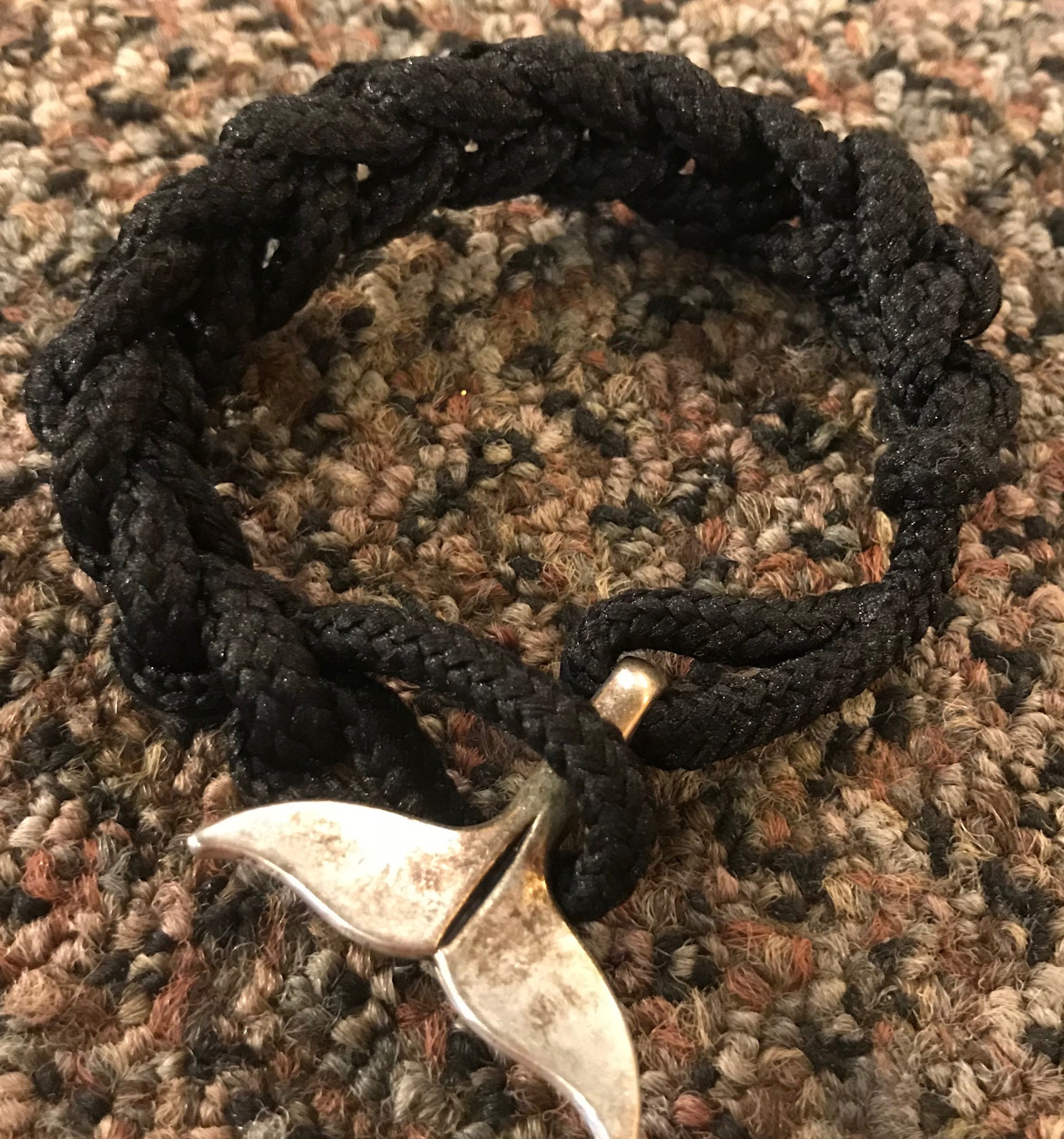 Black Whale Tail Knotted Bracelet