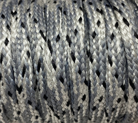 Gray and Silver Snake Skin Style Shoelace