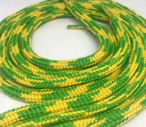 Lime Green and Yellow Hybrid Shoelaces