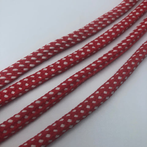 Red w/White Hybrid Shoelaces