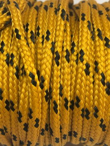 Classic Round Shoelaces Gold w/Black Accents