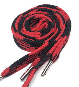 Big Fat Shoelaces - Black & Red