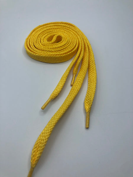 Solid Yellow Flat Shoelaces