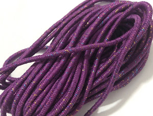 "Round Elastic 1/8"" Light Purple Sparkle - 6 yards"
