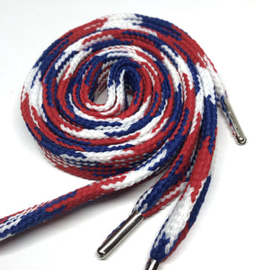 Big Fat Shoelaces - Red, White & Blue