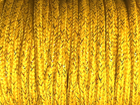 Round Sparkle Shoelaces - Deep Yellow
