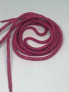 Round Shoelaces - Pink Sparkle