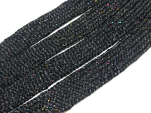 Big Fat Shoelaces - Black Sparkle