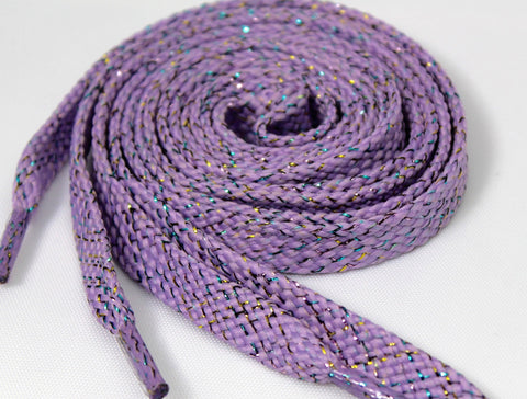 Light Purple Sparkle Shoelaces