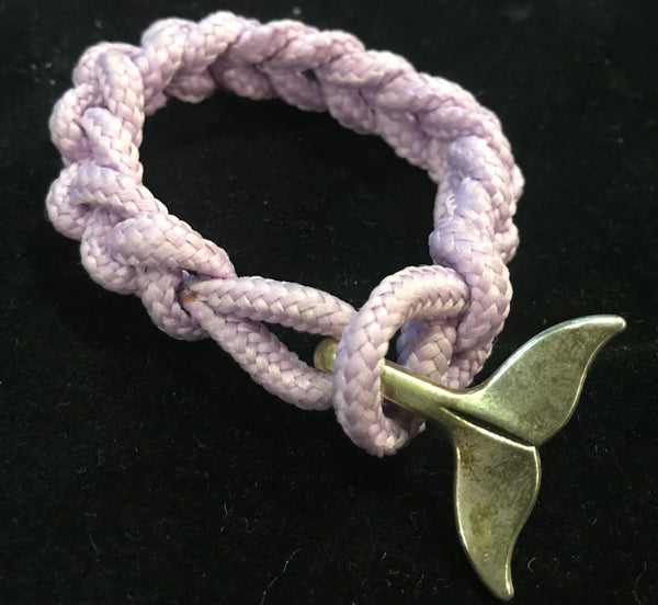 Light Purple Whale Tail Knotted Bracelet