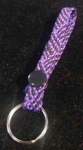 Purple and Black Snap Key Ring