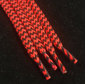 Red and Black Hybrid Shoelaces Chevron Pattern