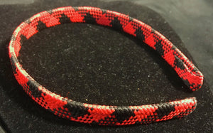 Red and Black Plaid Headband