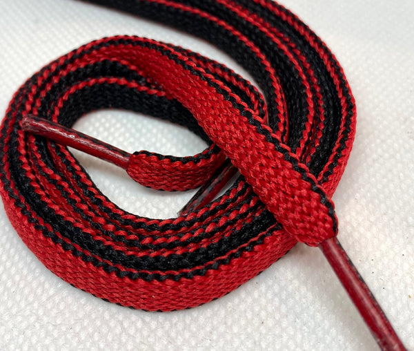 Two Sided Red and Black Shoelaces