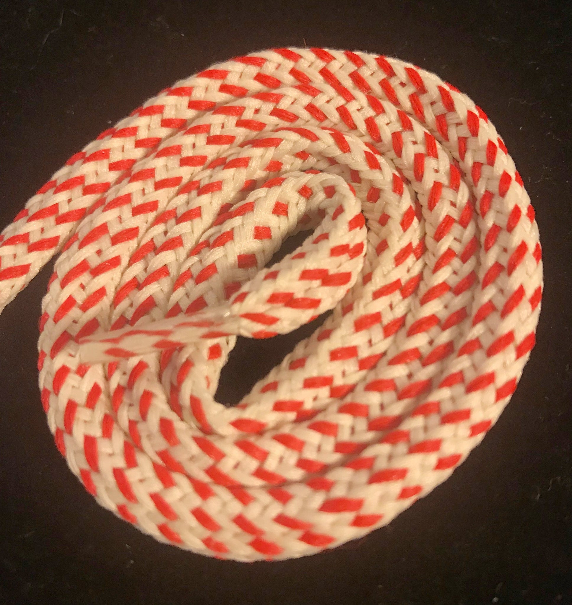Red and Cream Hybrid Shoelaces