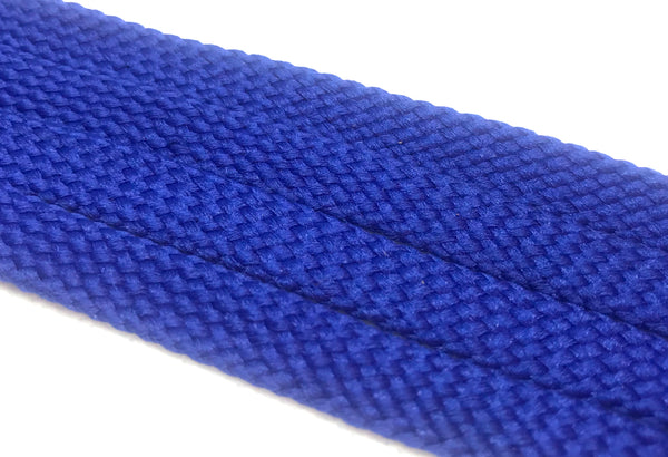 Solid Royal Blue Flat Shoelaces