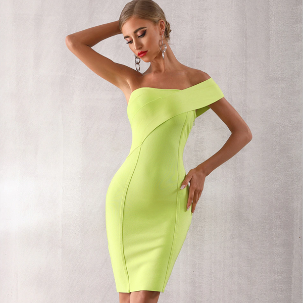 Emora Neon Green dress