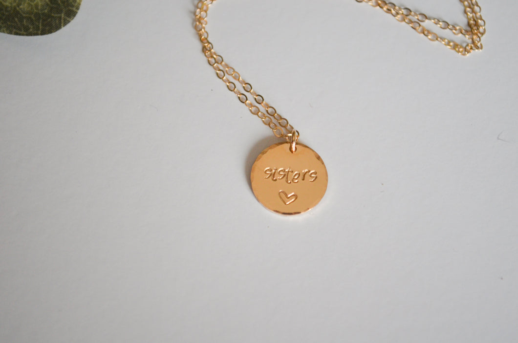 Sisters Disc Necklace
