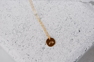 Wave Disc Necklace