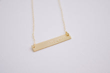 She Laughs Bar Necklace