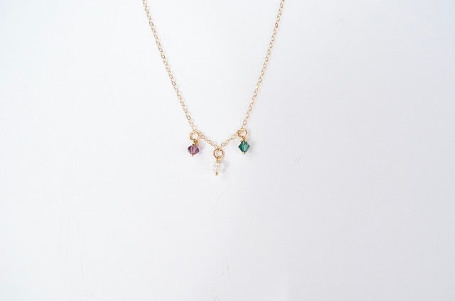 Layered Birthstone Necklace