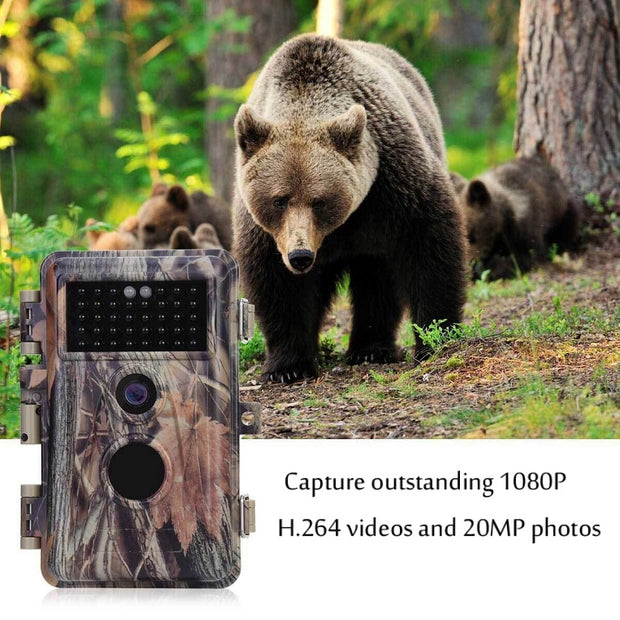 Game Trail Deer Hunting & Field Tree Camera 20MP 1080P H.264 MP4/MOV Video Night Vision Waterproof Password Protected Photo & Video Model