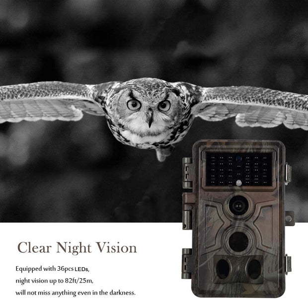 4-Pack Blazevideo A261 Wlidlife Cameras Game Trail Cams with 20MP 1080P Video infrared LEDs 25m Night Vision for Deer Hunting, Farm, Home Security