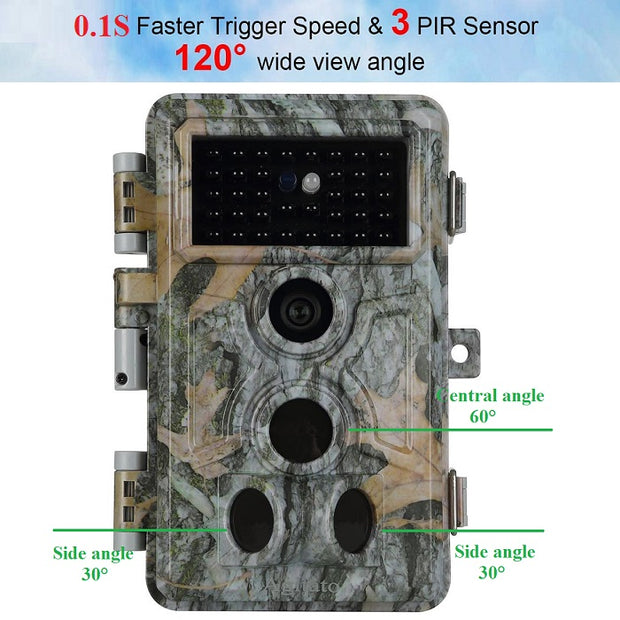 2-Pack Trail Hunting & Game Deer Cameras Wildlife Farm Cams 20MP 1920X1080P Video 0.1s Fast Trigger Time Motion Activated Waterproof