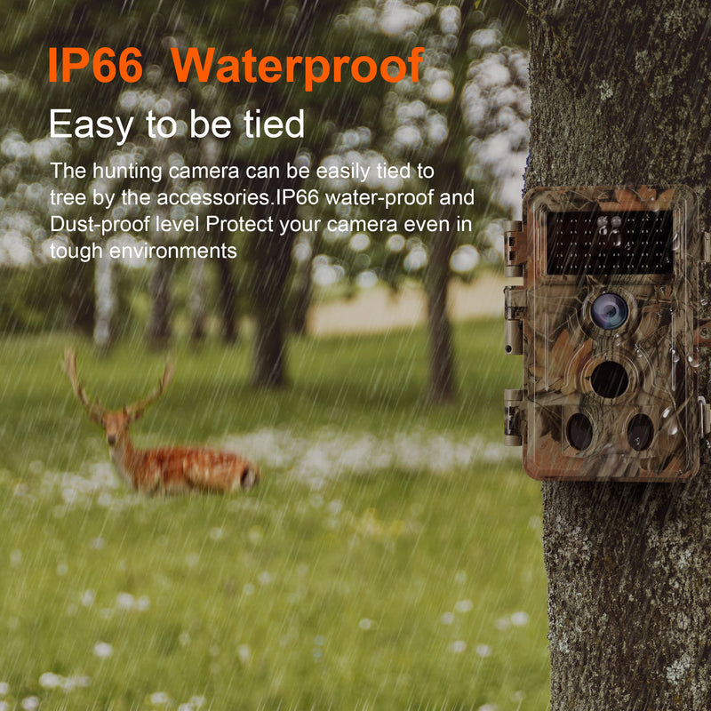2-Pack 2-PIR Motion Activated sensor Hunting Cameras 16MP 1080P Game Trail Cam IP66 Waterproof 120°