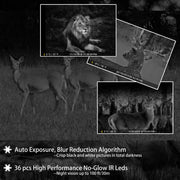 Game Farm Trail Deer Camera with 100ft Night Vision 20MP 1080P Video Motion Activated 0.1S Trigger Speed No Glow IP66 Waterproof Hunting Cams