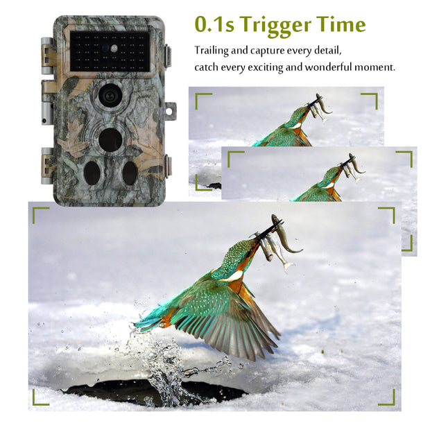 2-Pack Trail Hunting & Game Deer Camera 20MP 1920X1080P H.264 MP4/MOV Video 0.1s Fast Trigger Time Motion Activated Password Protected Waterproof