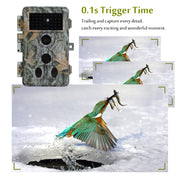 A262 Trail Hunting & Game Deer Camera For Wildlife - 20MP 1080P HD Video 0.1s Fast Trigger Time Motion Activated Password Protected Waterproof