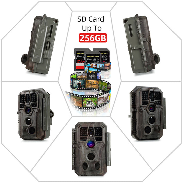 2-Pack Agitato A280 Trail Game Cameras 24MP 1296P Video 100ft Night Vision 0.1S Trigger Motion Activated Waterproof Wildlife Hunting Deer Cams