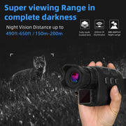 2-Pack HD Infrared Night Vision Monoculars with Scope at 150-200m Distance Taking 960P Video Photo Smart Digital Hunting Cams for Outdoor Camping Hiking
