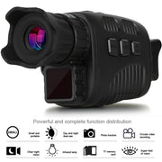 Infrared HD Night Vision Monocular with Scope at 656FT 150-200m Distance Takes 960P Video Photo Smart Digital Hunting Gear for Outdoor Surveillance Camping Hiking