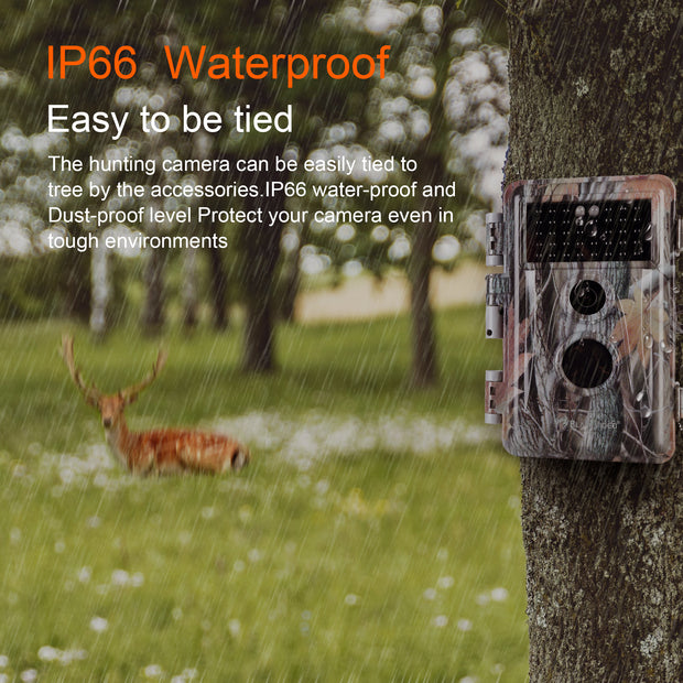8-Pack No Glow Game & Trail Hunting Deer Wildlife Cameras 20MP 1920x1080P H.264 MP4/MOV Video Night Vision Motion Activated IP66 Waterproof