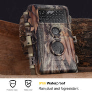 2-Pack No Glow Game & Trail Deer Hunting Cameras 20MP 1920*1080P Video Motion Activated Waterproof IP66 Night Vision