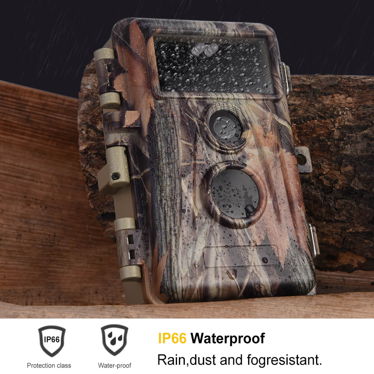 8-Pack Trail Wildlife Hunting & Field Farm Tree Cameras 20MP HD H.264 1080P MP4 Video 0.5S Trigger Motion Activated IP66 Waterproof with LCD